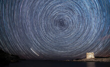 Star Trails With The Neowise C...