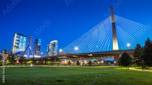 Leonard P. Zakim Bunker Hill Memorial Bridge Wallpaper Mural