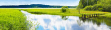 Panoramic Summer Landscape Of ...
