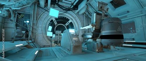 Foto Spaceship command post