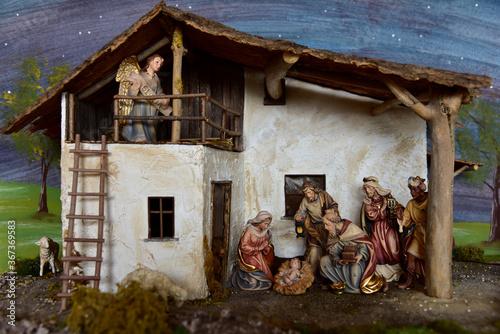 Photo Krippe, Weihnachtskrippe, Geburt, Weihnachten, Jesus, Christen, Religion, Maria