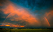 canvas print picture Huge Rainbow across the Land