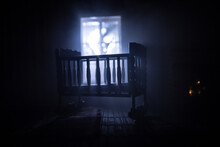 Old Creepy Eerie Baby Crib Nea...