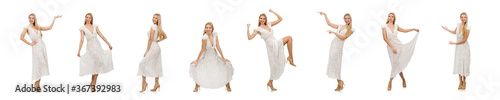 Fotografie, Obraz Woman in dress in fashion dress isolated on white