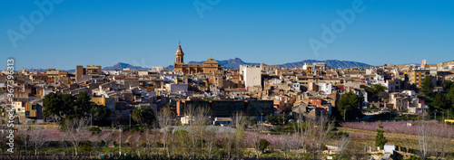 Cieza with its church, Parroquia La Asuncion in the Murcia region in Spain