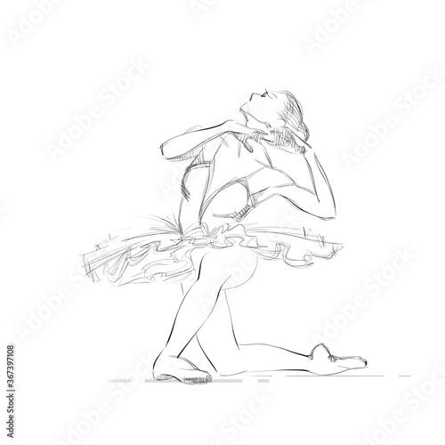 A Young Ballerina Canvas Print