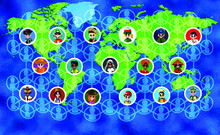 World Connected Background Ill...
