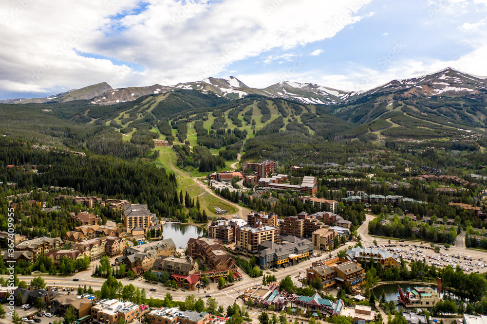 Aerial drone photo - Rugged Rocky Mountains of Breckenridge, Colorado.