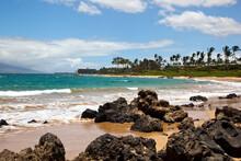 Wind And Surf On A Maui Beach