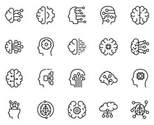 Machine Learning Icon Set