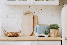 Kitchen Interior With Vintage ...