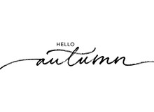 Hello Autumn Lettering Text. Ink Brush Pen Vector Calligraphy. Hand Lettering Seasonal Phrase. Saying Handwritten Modern Brush Calligraphy. Fall Season Handwritten Linear Style. Welcome Autumn Banner.
