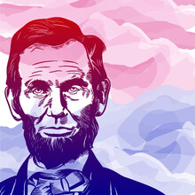 Poster, Background, Or Card Design For National Holiday In The United States, Abraham Lincoln's Birthday.