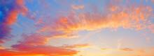 Summer Sunset Sky Landscape Pa...