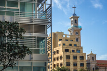 Tower Of Maronite Cathedral Of Saint Georgein Beirut, Lebanon