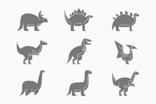 Dinosaurs Icons Set - Vector S...