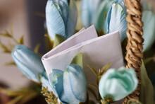 Decorative Bouquet With Blue F...