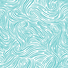 Seamless Pattern With Waves. D...