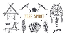 Free Spirit Boho Vector Collec...