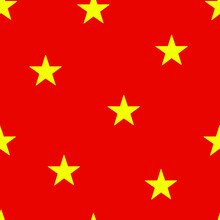 Seamless Pattern Of The Theme Of Vietnam Independence Day On September 2. Decorated With  Outline Vietnam Flag Elements.