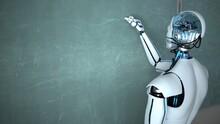 Humanoid Robot Chalk Board Wri...