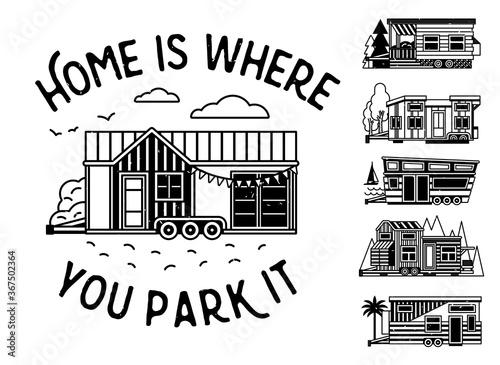 Fototapeta Home Is Where You Park It