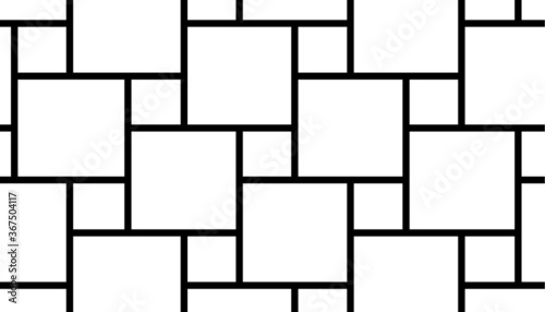 Fotografia, Obraz Black square grid pattern vector