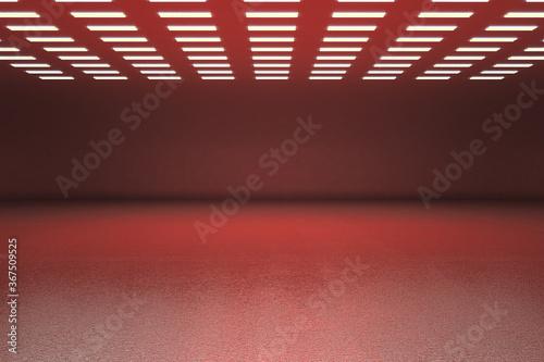 Obraz Red gallery interior - fototapety do salonu