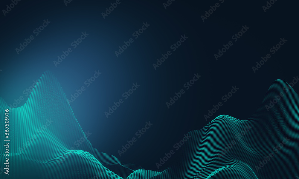 Abstract digital wave background.