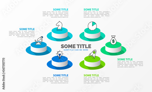 Fotografia Infographic design template. Creative concept with 6 steps