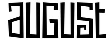AUGUST Black Vector Hand Lettering Banner