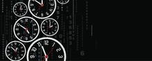 Clock On Black Background