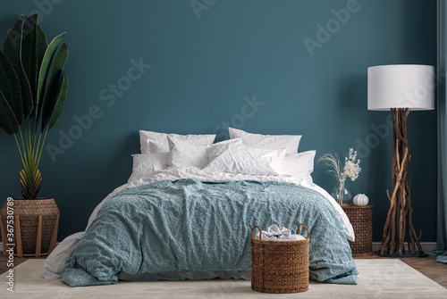 Dark Green Bedroom Interior Background 3d Render Buy This Stock Illustration And Explore Similar Illustrations At Adobe Stock Adobe Stock