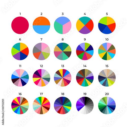 Set of segmented circles Wallpaper Mural
