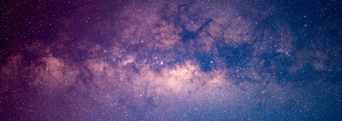 Milky way galaxy and starfiled on night sky background