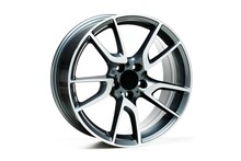Closeup Shot Of Metal Wheel Rims With A White Background