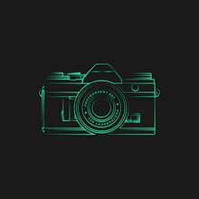 Line Art Design Of Mirrorless Camera