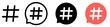 Hashtag icon set.Hashtag symbol.Social media marketing concept illustration pictogram.Vector cartoon hashtag icon in comic style.