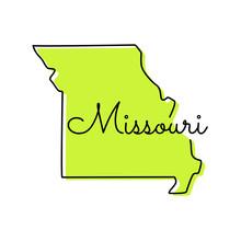 Map Of Missouri Vector Design ...