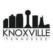 Knoxville Tennessee Skyline Silhouette City Design Vector Famous Monuments.