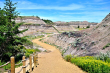 Trail Through The Badlands Of Horseshoe Canyon, Near Drumheller, Alberta, Canada