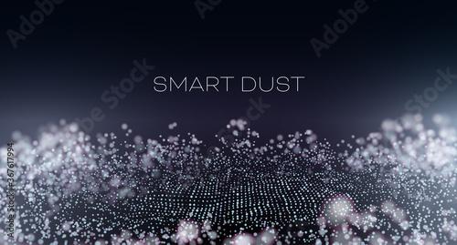 Valokuva Smart dust abstract vector background