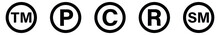 Copyright And Registered Trademark Icon, Service Mark