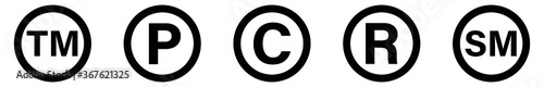 Photo Copyright And Registered Trademark Icon, service mark