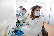 Medical Scientist Using Micros...