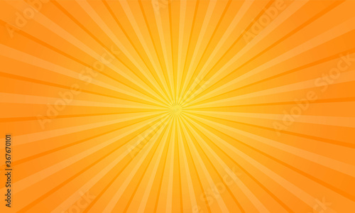 Obraz Orange gradient ray burst dot style background vector design - fototapety do salonu