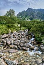 Mountain Stream In High Tatras...