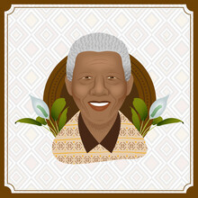 Vector Illustration Of Nelson Mandela, He Was A South African Anti-apartheid Revolutionary And Political Leader