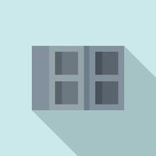 Construction Stone Brick Icon. Flat Illustration Of Construction Stone Brick Vector Icon For Web Design