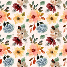 Autumn Fall Floral Watercolor ...